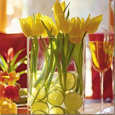 tulips/lime slices