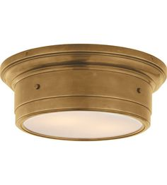 Visual Comfort Studio Siena 2 Light Flush Mount in Hand-Rubbed Antique Brass SS4015HAB-WG $293.90 *** i like this