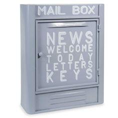 Boîte à clés en métal gris H 36 cm MAIL BOX CAPRI