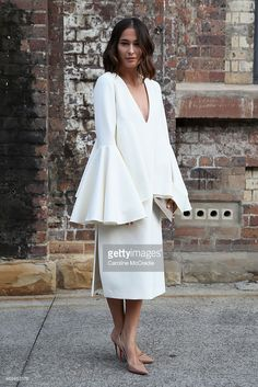 Eleanor Pendleton wearing Ellery Christian Louboutin shoes and a... News Photo | Getty Images
