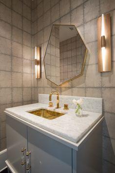 wood vanity top stands proud of marble top.