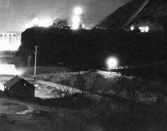 Arrowrock Dam at Night :: Idaho History Catalog and Repository Project