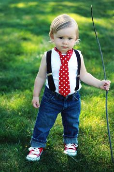 Baby Boy/ Toddler Red with White Polka Dot Tie.  It will fit a baby to a 2 year old. by CutiePiesTies on Etsy https://www.etsy.com/listing/178051723/baby-boy-toddler-red-with-white-polka
