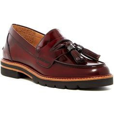 Stuart Weitzman Manila Loafer (12.035 RUB) ❤ liked on Polyvore featuring shoes, loafers, cordovan mirror, retro shoes, strappy shoes, slip-on shoes, cordovan tassel loafers and platform slip on shoes