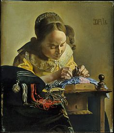 Salvador Dali / The Lacemaker (after Vermeer) / 1955 / Oil on canvas / at the Met