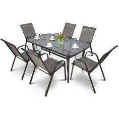 Focus Garden Zahradní nábytek BOLOGNA Mix Grey 6 + 1 Outdoor Furniture Sets, Outdoor Decor, Bologna, Dining Table, Grey, Home Decor, Gray, Decoration Home, Room Decor