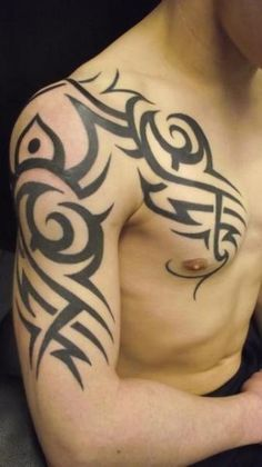 Tattoo by Paul Egan Tattoo - Chest Shoulder Tribal Tattoo by Paul Egan Tattoo - Tribal Band Tattoo, Tribal Sleeve Tattoos, Best Sleeve Tattoos, Body Art Tattoos, Anchor Tattoo Design, Tribal Tattoo Designs, Tattoo Sleeve Designs, Anchor Tattoos, Tattoo Chest And Shoulder