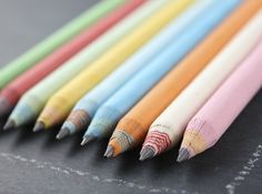 cool recycled paper pencils