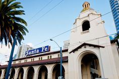 The Santa Fe Depot is a union station in San Diego, California built in 1915 by the Atchison, Topeka and Santa Fe Railway. http://aargo.com/10-office-buildings-within-walking-distance-from-the-santa-fe-depot-station-in-san-diego-ca