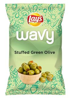Wouldn't Stuffed Green Olive be yummy as a chip? Lay's Do Us A Flavor is back, and the search is on for the yummiest chip idea. Create one using your favorite flavors from around the country and you could win $1 million! https://www.dousaflavor.com See Rules.