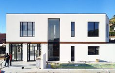 East elevation | A House by 08023 Architects in Barcelona | #Houses