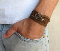 For Daniel - men's leather bracelet
