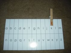 great for Working with Words! the students match the upper case letter on the clothes pin with the lower case letter on the card.