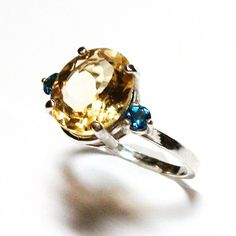Citrine citrine and topaz ring citrine accent by Michaelangelas