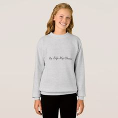 Girls' Hanes ComfortBlend® Sweatshirt - baby gifts child new born gift idea diy cyo special unique design