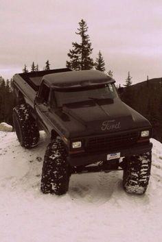 Classic Ford Truck in the Snow. Not a ford fan but this is badass. 4x4 Trucks, Ford Pickup Trucks, Lifted Ford Trucks, Diesel Trucks, Cool Trucks, Ford 4x4, Ford Diesel, Custom Trucks, Truck Drivers