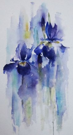 """http://img.advocate-art.com/thumbs/6/48555.jpg"" Gorgeous Iris. I love the ""melting in the rain"" effect."