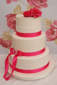 Fuschia Wedding Cake | Flickr - Photo Sharing!