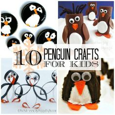 10 Penguin Crafts for Kids. Perfect for Winter time!