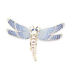 Blue Deco Dragonfly Brooch by Jeremy Tosh l £90 l V&A Shop #Christmas #Jewellery
