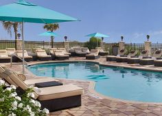 What's better than this poolside seat? Not much! Take a dip in the pool at One Ocean Resort & Spa.