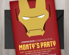 Free Printable Iron Man Birthday Party Invitations PARTY FUN with