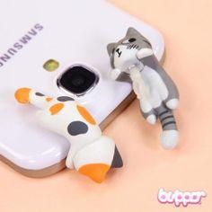 Neko Earphone Jack Charm - Peeking - Straps & Charms - Mobile Accessories | Blippo Kawaii Shop