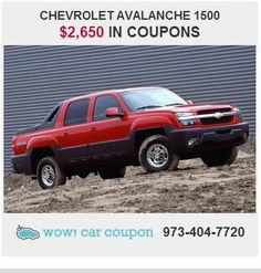 This wonderfully fuel-efficient  #Chevrolet  #Avalanche #offers high Quality materials , quick acceleration   and #great #discount #coupons!! Check it out on www.wowcarcouponcom !! #wowcarcoupon #njtrucks #savings #savemoney