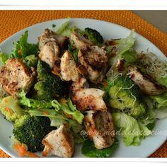 Alfalfa sprouts, Broccoli, and Chicken Salad