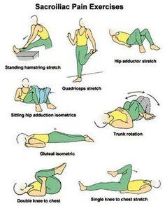 sacroiliac pain exercises  Visit us  jointpainrepair.com  Via  google images  #jointpain #jointpains #jointpainrelief #kneepain #kneepains #kneepainnogain #arthritis #hipjoint  #jointpaingone #jointpainfree