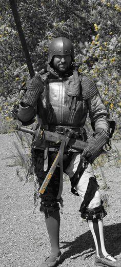 Northern Faire. Renaissance Festival Northern California 2014 landsknecht Jason Russell. Medieval arms and armor. German Mercenaries.. soldier