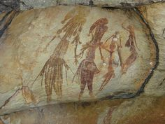 Ancient Aboriginal rock art (Bradshaw's), Kimberley, Western Australia