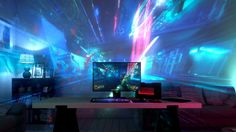 """Razer Zone has just unveiled a new projector named, Project Ariana, which is designed to enhance the video gaming experience by expanding the play area of a video game onto the area around the TV screen. https://youtu.be/upWbmhSWcgo The Project Ariana projector contains two 3D cameras which it uses to scan the room its in and adjust the images being projected. """"Project Ariana brings a whole new dimension to immersive gaming with Razer Chroma which communicates with the game in..."""