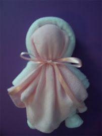Washcloth babies - made with three new baby washcloths!