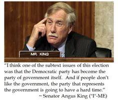 Sen. Angus King on Government