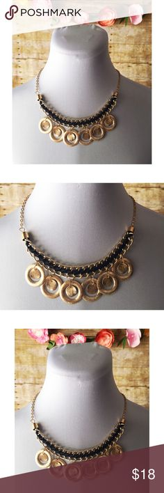 $10 SALEBlack & Gold Coin Necklace Stylish, brand new statement necklace. Jewelry Necklaces