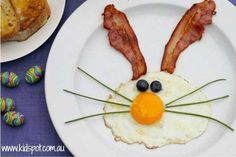 I want someone to make this for my breakfast Food Art For Kids, Happy Foods, Easter Brunch, Kids Meals, Tapas, Good Food, Fun Food, Food And Drink, Lunch