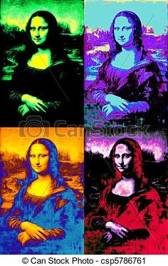 Stock Photo - pop mona lisa - stock image, images, royalty free photo, stock photos, stock photograph, stock photographs, picture, pictures, graphic, graphics