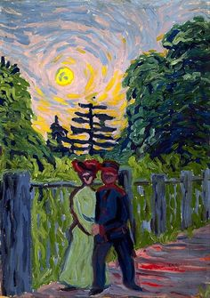 Moonrise: Soldier and Maiden, Ernst Ludwig Kirchner c. 1910