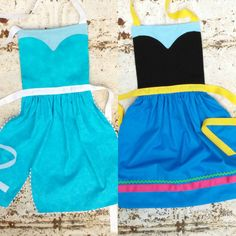 FROZEN Disney Princess ANNA and ELSA by QueenElizabethAprons, $49.00