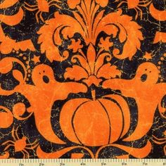 I have similar fabric - mine's fancier print with all over sparkle Ghouls Night Out Damask Cotton Fabric Black Halloween Fabric, Tigger, Damask, Night Out, Disney Characters, Fictional Characters, Maywood Studio, Cotton Fabric, Sparkle