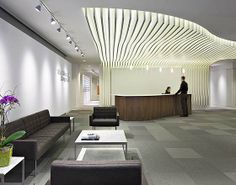 Gensler- the exact idea I had! roof creates a special place. Industrial Office Design, Office Interior Design, Luxury Interior, Interior Architecture, Corporate Interiors, Hotel Interiors, Office Interiors, Commercial Design, Commercial Interiors