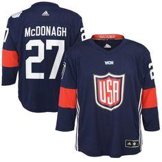 Ryan McDonagh US Hockey adidas Youth World Cup of Hockey 2016 Replica Player Jersey - Navy