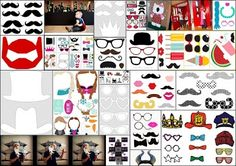 24 Fantastic Free Printable Photo Booths for your Parties.