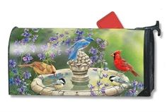 MailWraps Bird Bath Gathering Mailbox Cover 01330 * You can find out more details at the link of the image.