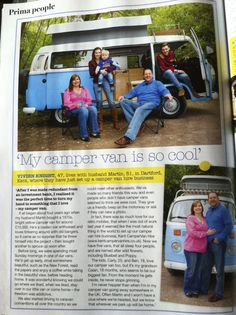 The Family with Tulip the Campervan in Prima a while back now. Love the Photo!
