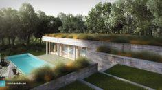 Pool House in Dallas - Kuan Studio / Visualization 3d Visualization, Architect Design, Exterior, Studio, Outdoor Decor, Dallas, House, Image, Home Decor