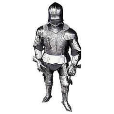 Gothic Medieval Suit of Armour - One Size Fit All - Silver