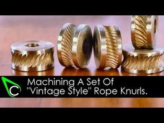 Home Machine Shop Tool Making - Machining A Set Of Vintage Style Rope Knurls - YouTube
