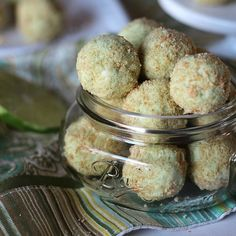 Key Lime Pie Truffles (use Schar #glutenfree graham crackers)